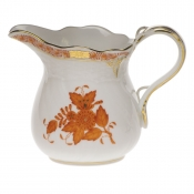 "Chinese Bouquet Rust CREAMER  (10 OZ) 4""H"