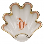 Herend Large Shell Dish - Rust