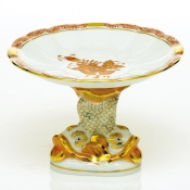Herend Shell with Dolphin Stand - Rust