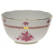 "Chinese Bouquet Raspberry ROUND BOWL  (3.5 PT) 7.5""D"