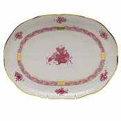 "Chinese Bouquet Raspberry TRAY  10.5""L X 8""W"
