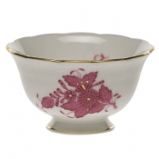 Chinese Bouquet Raspberry SUGAR BOWL - OPEN