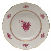 "Chinese Bouquet Raspberry RIM SOUP PLATE  8""D"