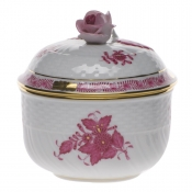"Chinese Bouquet Raspberry SUGAR COVERED W/ROSE  (6 OZ) 4""H"