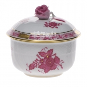 Chinese Bouquet Raspberry SUGAR COVERED W/ROSE  (4 OZ) 3.25""