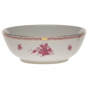 "Chinese Bouquet Raspberry LARGE BOWL 11""D"