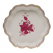 "Chinese Bouquet Raspberry FRUIT BOWL 6.25""D"