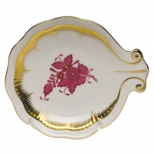 Herend Large Shell Dish - Raspberry