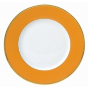 Les Indiennes Matte Gold Filet Mandarine - Dinner Plate