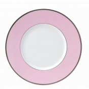 Les Indiennes Matte Platinum Filet Rose Dinner Plate