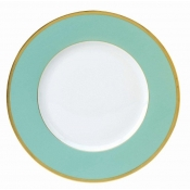 Les Indiennes Matte Gold Filet Turquoise Dinner Plate
