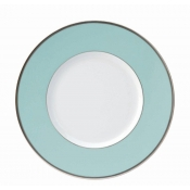 Les Indiennes Matte Platinum Filet Turquoise Dinner Plate