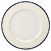 Scala Blue Gold Filet  Dinner Plate