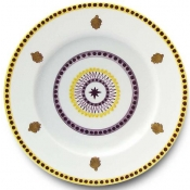 Agra Yellow Dinner Plate