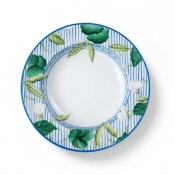 Potager Blue Soup Plate