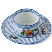 Potager Blue Breakfast Cup & Saucer