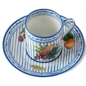 Potager Blue Coffee Cup & Saucer