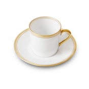 Double Filets Or Coffee Cup & Saucer