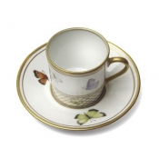 Filet A Papillons Coffee Cup & Saucer
