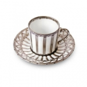Vannerie Platinum Coffee Cup & Saucer