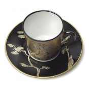Vieux Kyoto Coffee Cup & Saucer