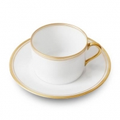 Double Filets Or Tea Cup & Saucer