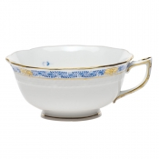 Chinese Bouquet Garland Blue Tea Cup