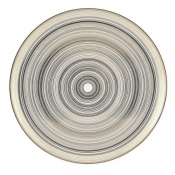 Attraction Gold & Platinum Flat Cake Plate