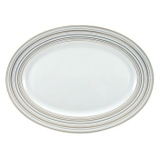 Attraction Gold & Platinum Oval Platter