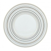 Attraction Gold & Platinum American Dinner Plate