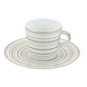 Attraction Gold & Platinum Large Coffee Saucer
