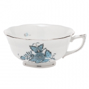 Herend Chinese Bouquet Turquoise & Platinum Tea Cup (only)