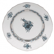 Herend Chinese Bouquet Turquoise & Platinum Bread & Butter Plate - 6""