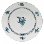 Herend Chinese Bouquet Turquoise & Platinum Salad Plate - 7.5""