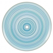 Attraction Turquoise Flat Cake Plate