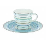 Attraction Turquoise Large Coffee Saucer