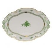 Chinese Bouquet Green RIBBON TRAY