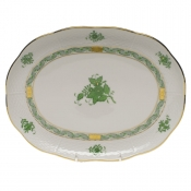 "Chinese Bouquet Green TRAY  10.5""L X 8""W"