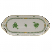 "Chinese Bouquet Green SANDWICH TRAY  14.5""L X 6""W"