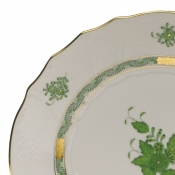 Chinese Bouquet Green COVERED BOUILLON LID ONLY W/ROSE