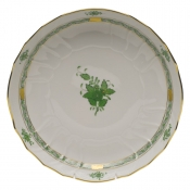"Chinese Bouquet Green OPEN VEGETABLE BOWL  10.5""D"