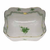 "Chinese Bouquet Green SQUARE SALAD BOWL  10""SQ"