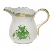 "Chinese Bouquet Green CREAMER  (10 OZ) 4""H"