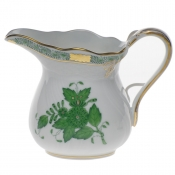 "Chinese Bouquet Green CREAMER  (6 OZ) 3.5""H"