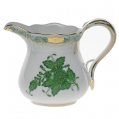 "Chinese Bouquet Green CREAMER  (4 OZ) 3.25""H"