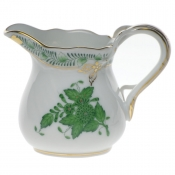 "Chinese Bouquet Green CREAMER  (1.5 OZ) 2""H"