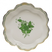 "Chinese Bouquet Green FRUIT BOWL 6.25""D"
