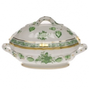 Long Mini Tureen - Green Handle