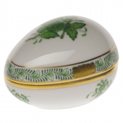 Herend Chinese Bouquet Green Egg Bonbon