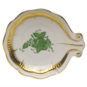 Herend Large Shell Dish - Green